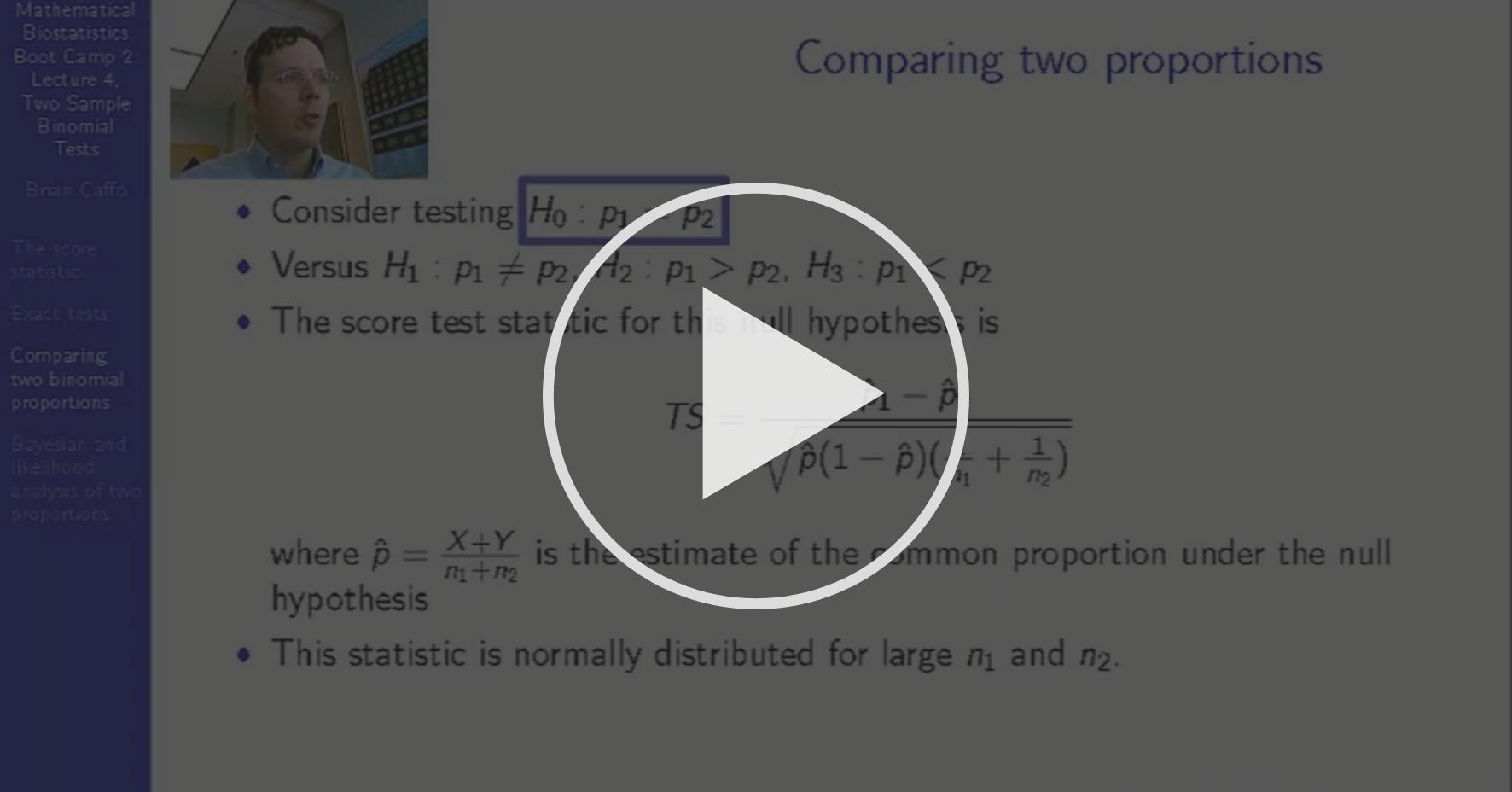 Two Sample Binomial Tests