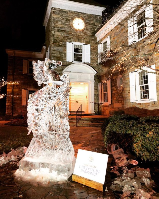Photo by user louisedawnphotography, caption reads Horse ice sculpture 😍 #lancasterpa #lititzphotography #louisedawnphotography #lititzfireandicefestival #pennsylvania #pennsylvaniaisbeautiful #pennsylvaniaphotographer #amazing #icesculptures #icesculpture #iceicebaby #artist #artistsoninstagram #wow #lovepennsylvania #photographer #photooftheday #beautiful #picoftheday #photogram #photographyislifee