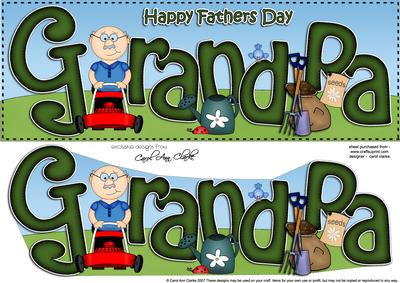 Large Dl Happy Fathers Day Grandpa Card 3d Decoupage Cup429405 359 Craftsuprint