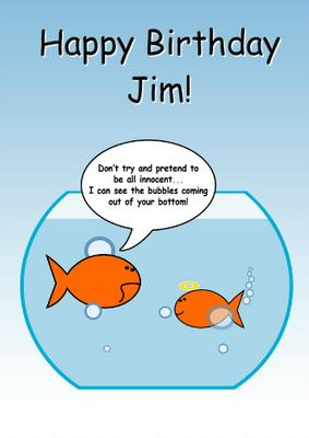 Card Creator Naughty Goldfish Humorous Card CUP5422661519