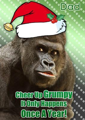 Card Creator Grumpy Gorilla Christmas Card CUP5740471519
