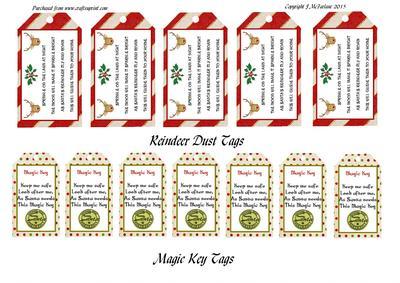 Reindeer Dust Amp Magic Key Tags CUP649386905 Craftsuprint