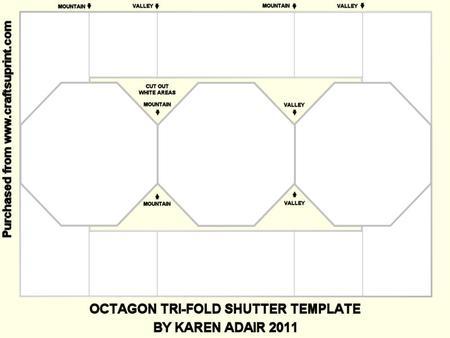 Octagon Tri Fold Shutter Template CUP230370168