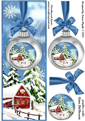 Lovely Christmas Bauble Scene Dl CUP4675591056