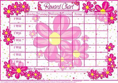 Flower Power Childs Reward Chart CUP171162614