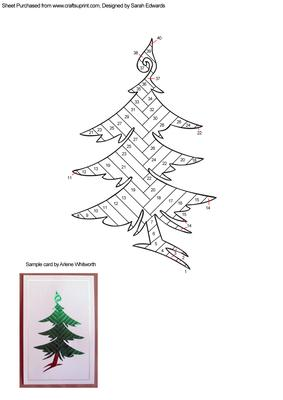 Funky Christmas Tree Iris Folding Pattern CUP247755172