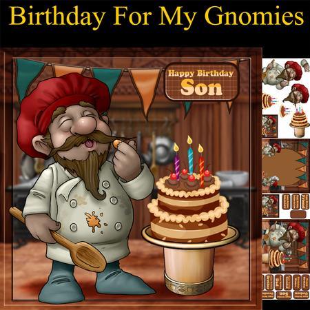 Gnome Chef Birthday Mini Kit CUP6124081446 Craftsuprint