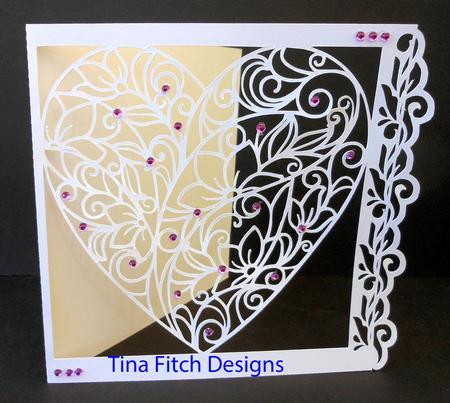 Heart Intricate Cut Out Card CUP692662596 Craftsuprint