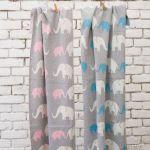 Darzzi Baby Blankets Elephant Baby Blanket Melange Gray Blue