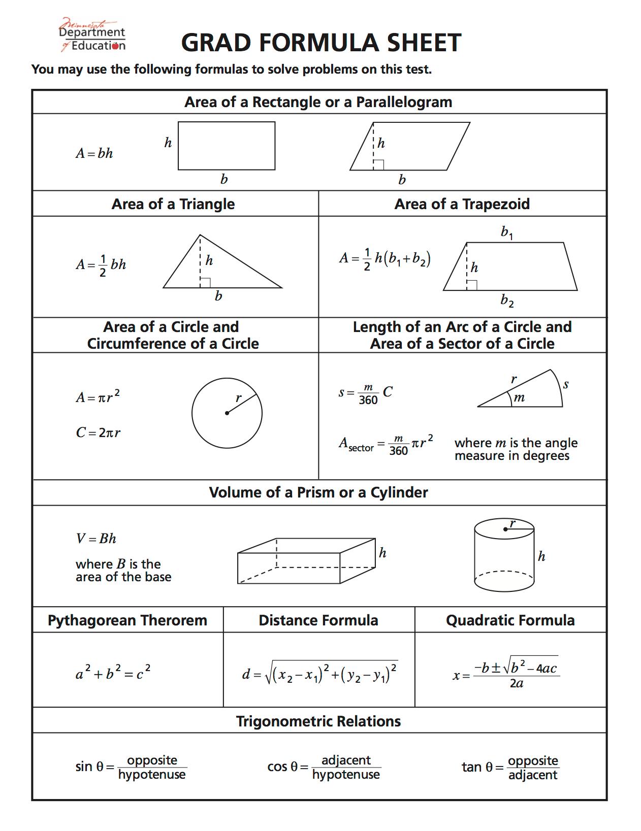 Online Math Test For Grade 10