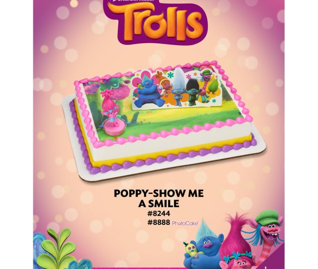 Trolls Poppy Show Me A Smile Decoset   Sheet The Magic Of Cakes Page
