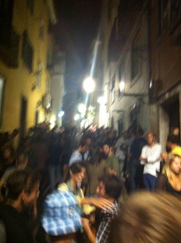 Crazy back-streets party