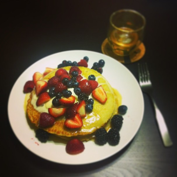 Because I'm an adult, and I'm worth it. #dinner #whiskey #pancakes