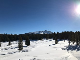 Snow-shoeing in Breckenridge, CO