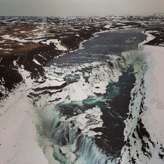 It's hard to appreciate the immense scale of Gullfoss. Truly epic. #iceland #djimavicair #dronephotography #dronestagram