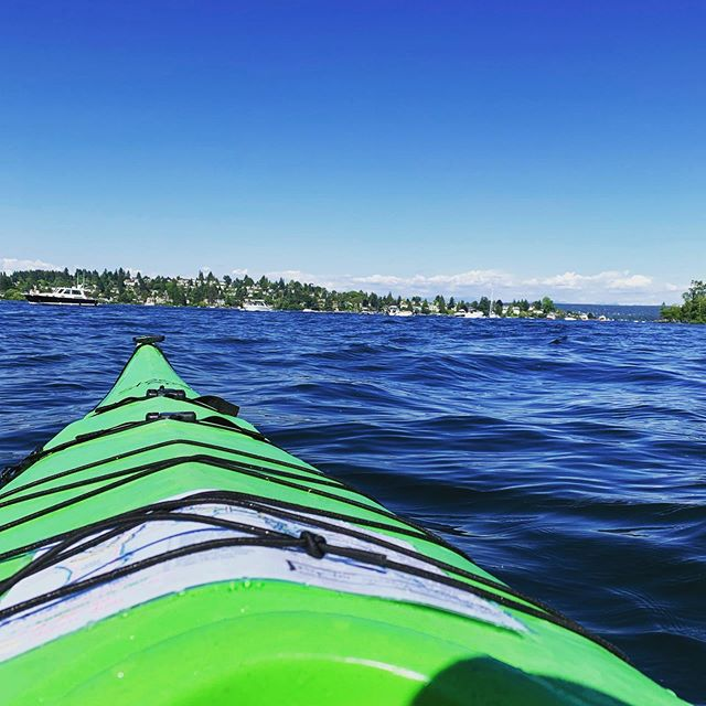 Solid afternoon paddle. Nice work Seattle! #kayak #lake #river #seattle #memorialday