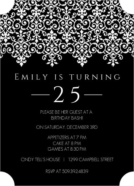 luxury classy party invitation wording