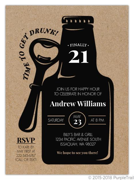 Custom 21st Invitations
