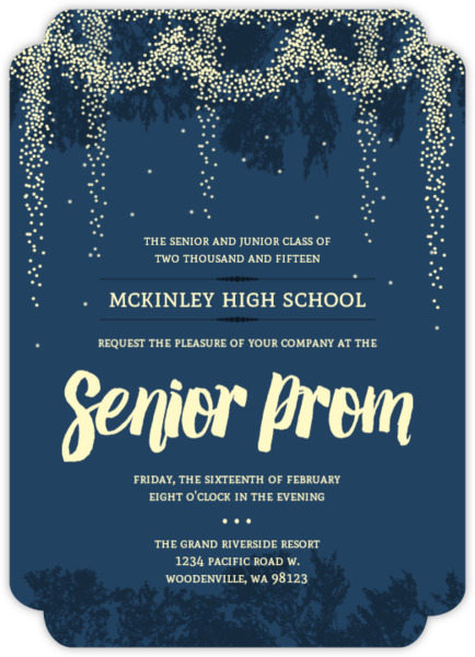 Whimsical Outdoor Night Light Prom Invitation Prom