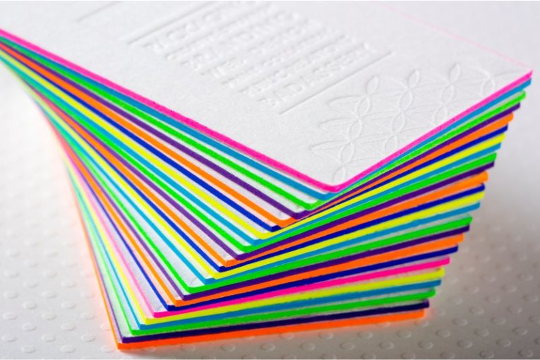 Color business cards free business card template business card color business cards painted edge business cards colored gilded edges for your cards ultra thick colourmoves