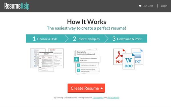 ResumeHelp Form Page