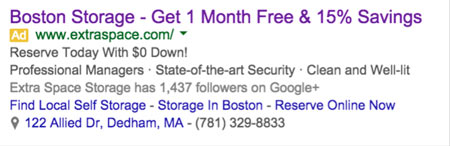 AdWords Ad to a Landing Page