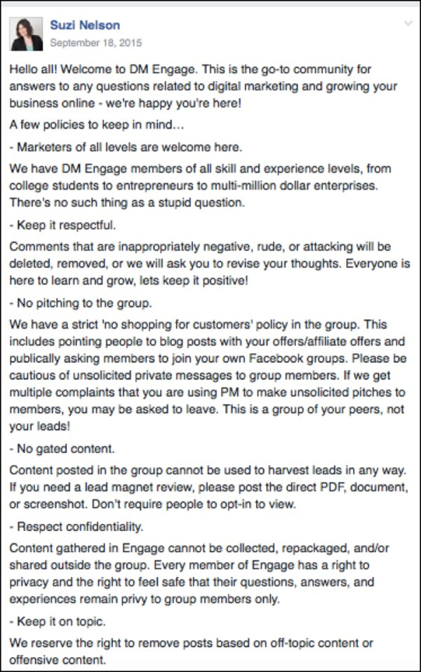 The previous DM Engage rules