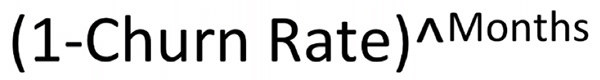 (1-Churn Rate)^Months