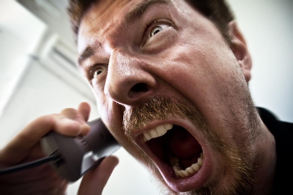 Image result for angry cell phone client
