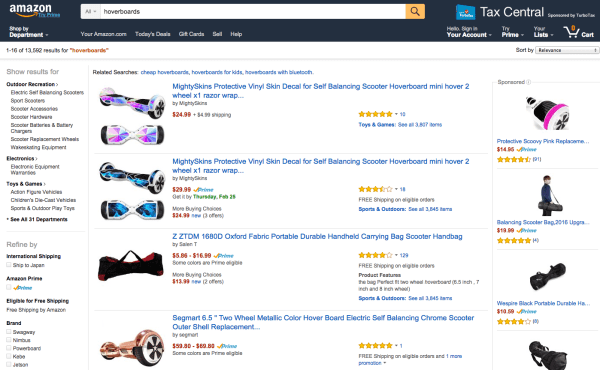 Amazon quietly pulls all hoverboards from its site (again)
