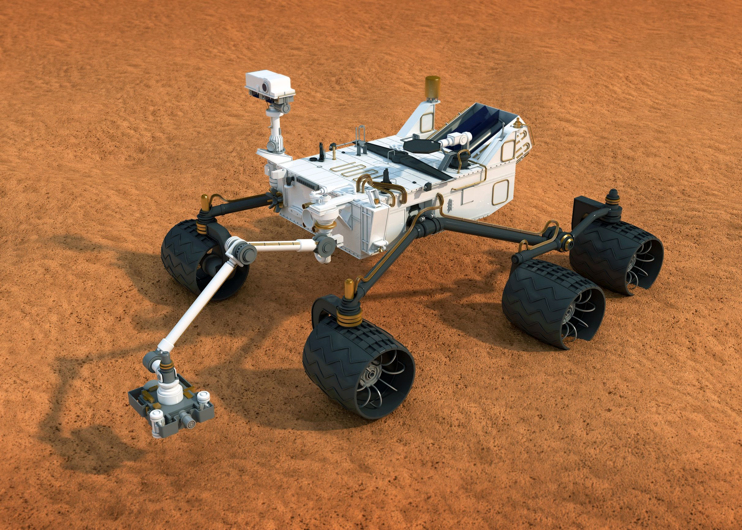 The Curiosity rover is going to look for water on Mars