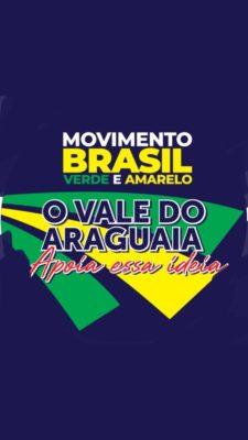 cartaz movimento brasil verde amarelo no araguaia