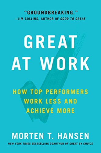 How to be Great at Work book cover
