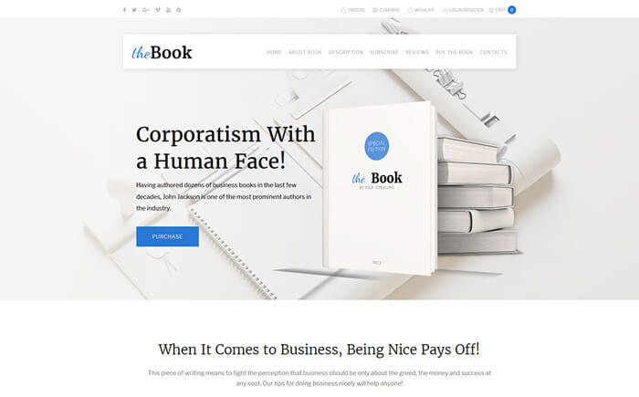 Single Book WordPress Theme