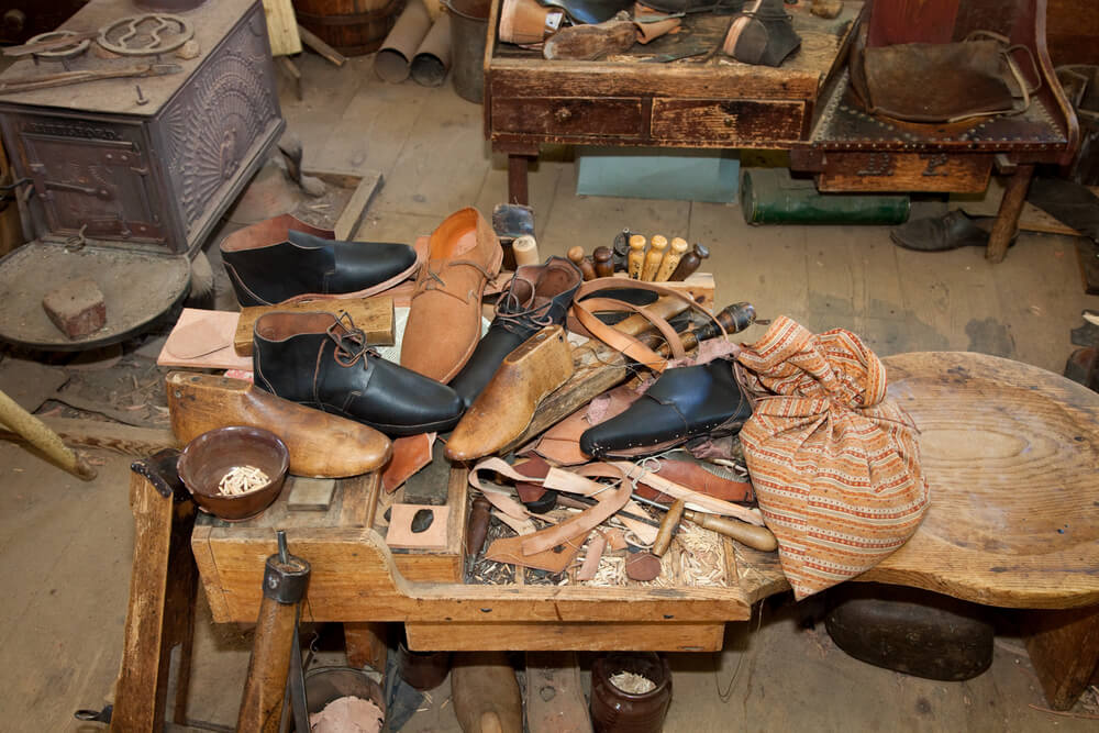 Messy Shoe Repair shop