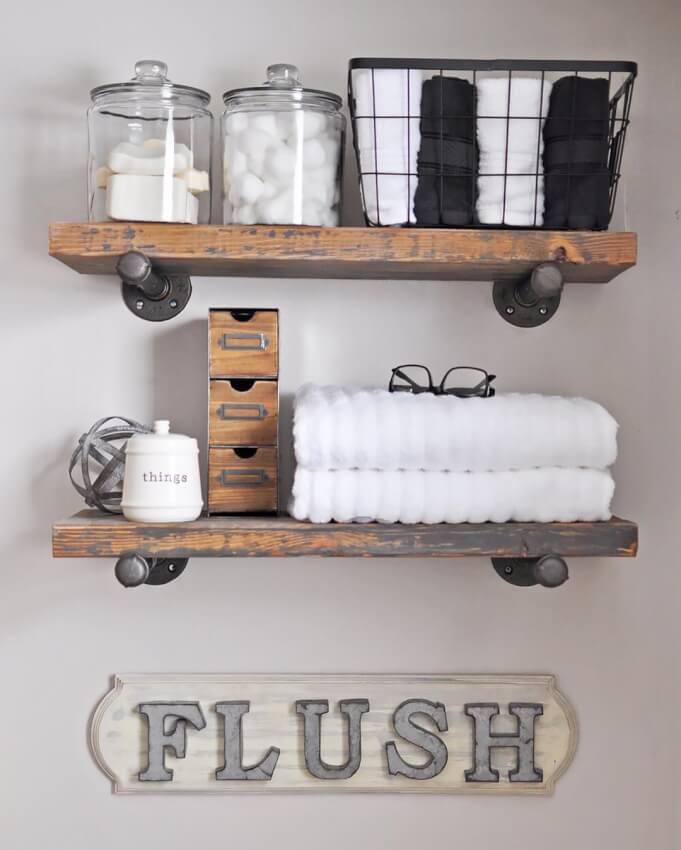 vintage half bath ideas
