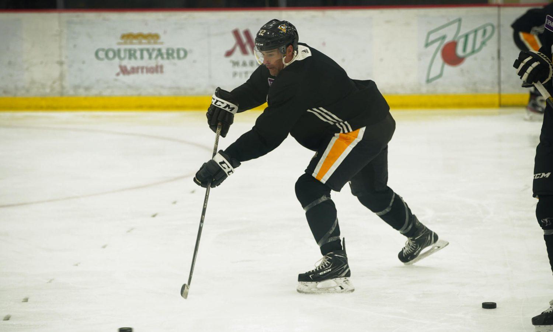 Photo of Marcus Pettersson, Patrick Marleau amongst Penguins' newest skate members