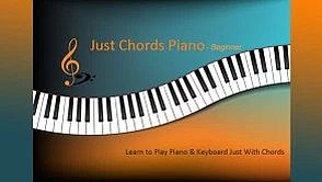 just chords piano beginners course of piano lessons