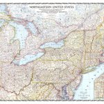 Northeastern United States 1945 National Geographic Avenza Maps