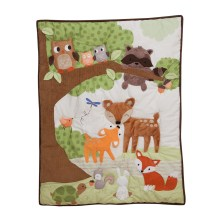 3 Lambs and Ivy Woodland Tales Quilt