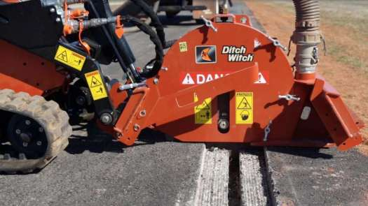 To reduce ground disruption, the MT9 creates clean, shallow trenches up to 9 inches deep and 0.375 to 1.5