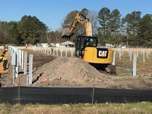 The company is using its fleet of Caterpillar equipment to complete the work, including Cat 308 excavators and Cat 305.5 excavators as well as Cat 299 skid steers, all of which were purchased from Gregory Poole Equipment Company.