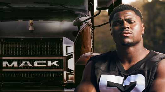 In a video recently released by Mack Trucks, Oakland Raiders defensive end Khalil Mack shares what it takes to be a Mack: hard work, determination and grit.