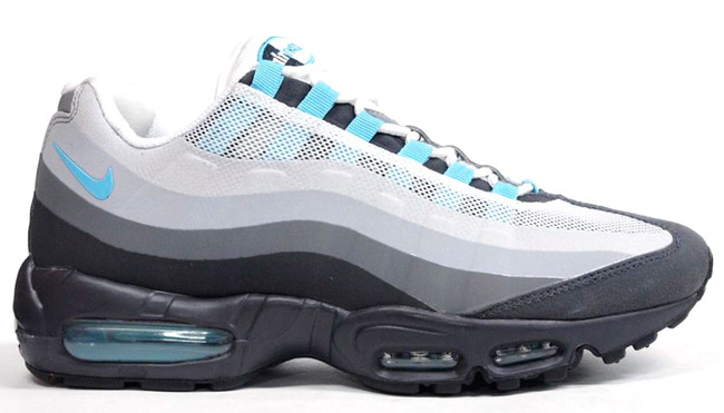 Nike Air Max 95 No Sew Grey Black Sax Blue