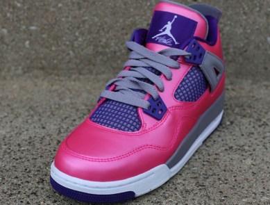 huge discount e97da 740aa Air Jordan 4 Retro. Girls Air Jordan 4 Pink Foil White-Cement Grey-Electric  Purple Style  · Air Jordan August 3, 2013