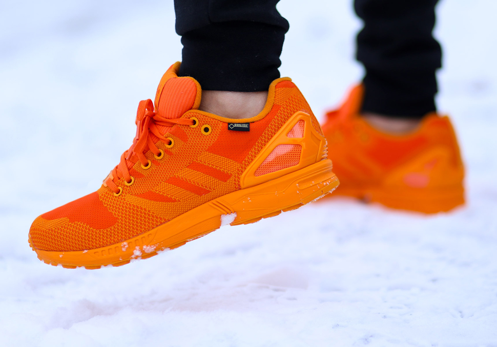 ee9b22e6e Adidas Zx Flux Weave Gore Tex Pack Lightweight Shoes Yellow Mens Navy  Orange Official
