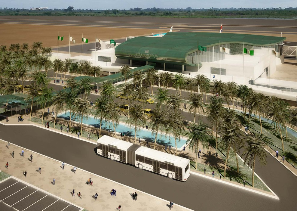 Design of the new Uyo Airport terminal