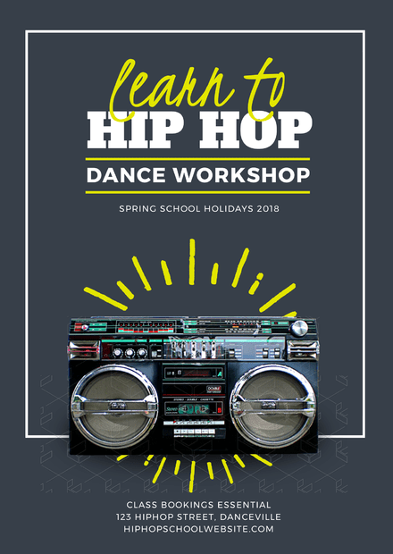 Learn To Hip Hop Dance Workshop Flyer Template Easil