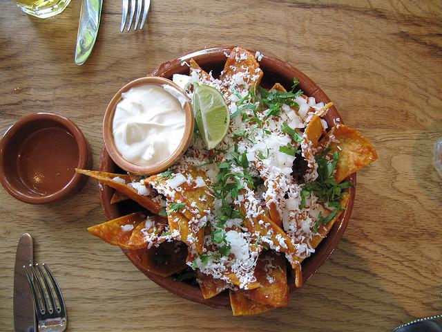 Nopalito chips and salsa
