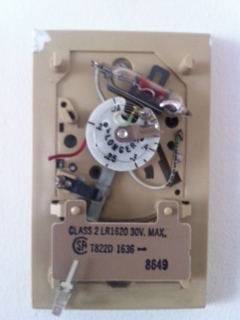 The red wire is not connected at both ends in my brivis thermostat